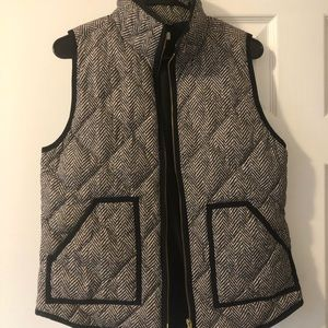 J. Crew Factory Quilted Printed Excursion Vest